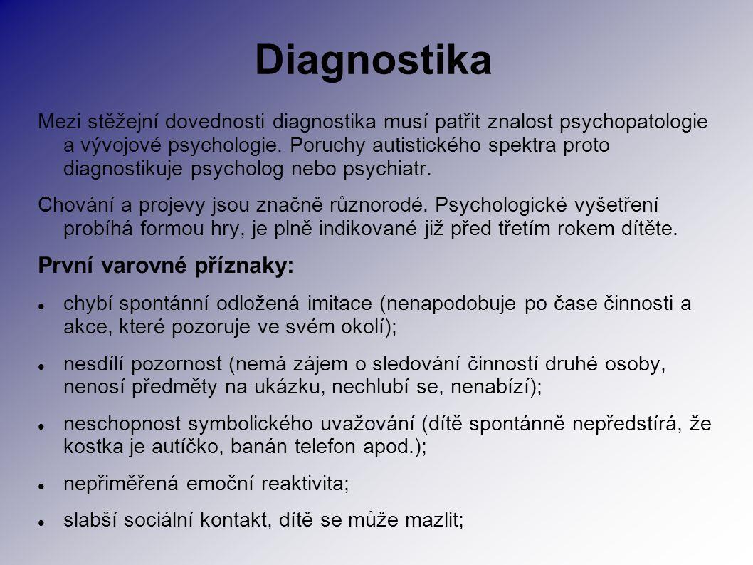 Diagnostika První varovné příznaky:
