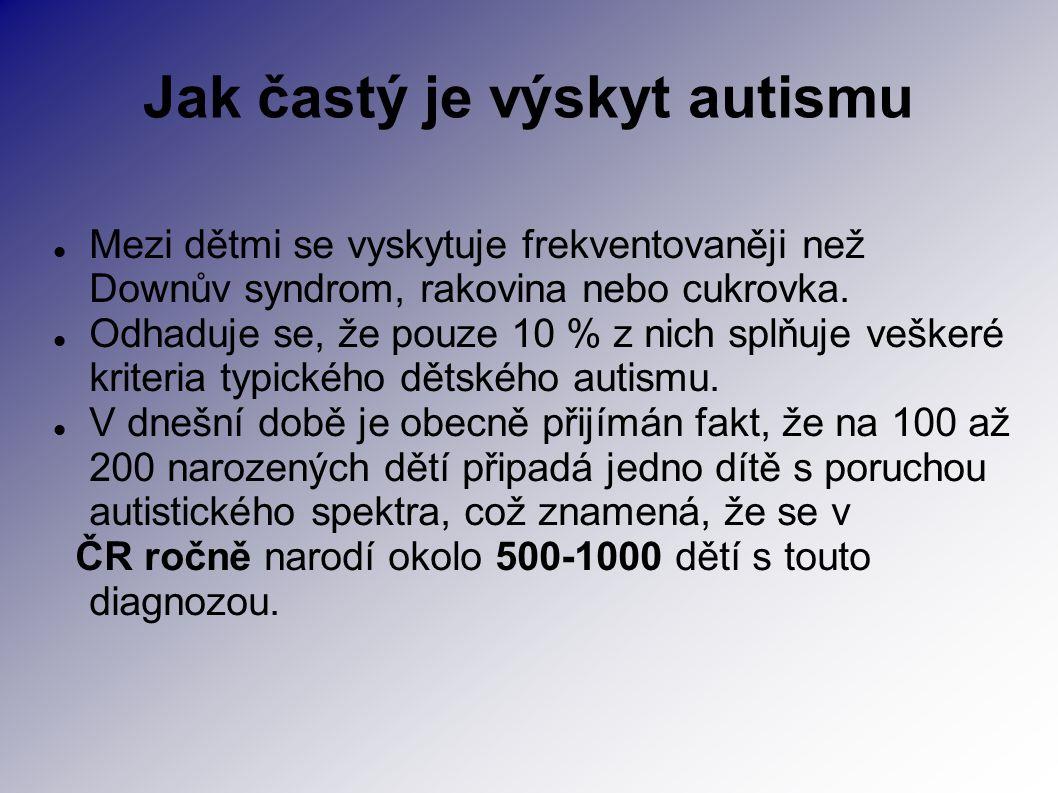 Jak častý je výskyt autismu