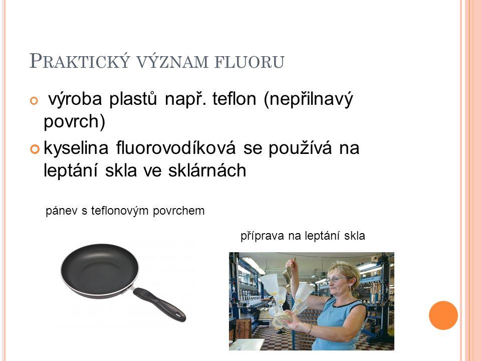 Praktický význam fluoru