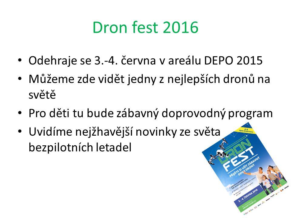 Dron fest 2016 Odehraje se 3.-4. června v areálu DEPO 2015