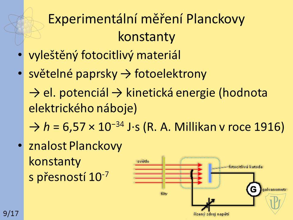 Experimentální měření Planckovy konstanty