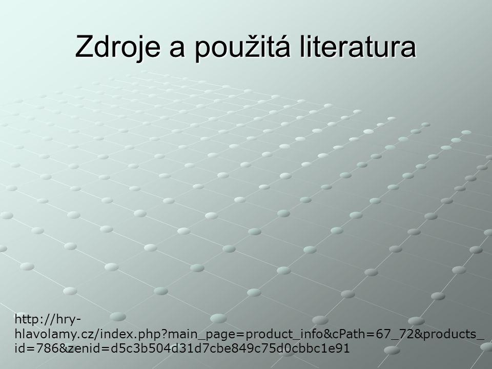 Zdroje a použitá literatura