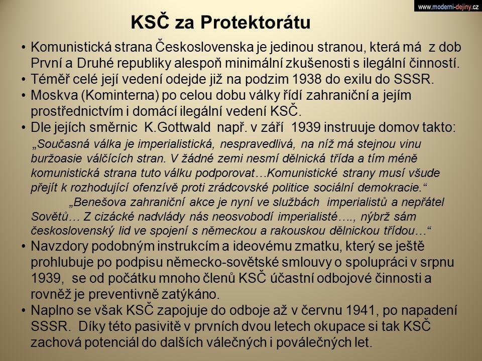 KSČ za Protektorátu