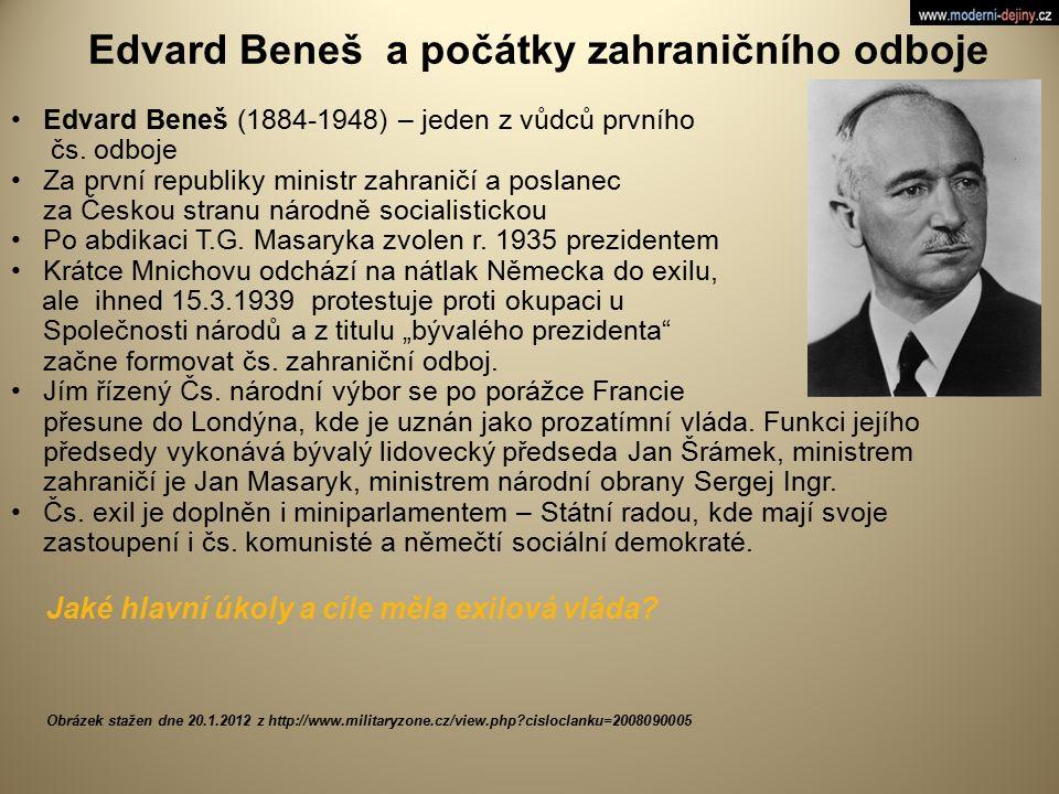 Edvard Beneš a počátky zahraničního odboje