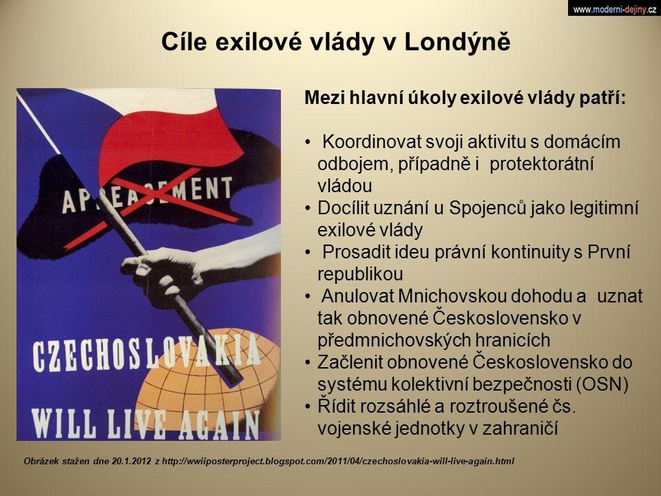 Cíle exilové vlády v Londýně