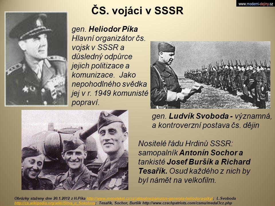 ČS. vojáci v SSSR gen. Heliodor Píka