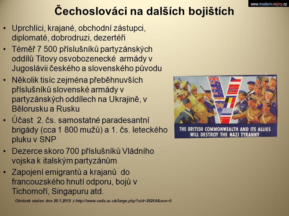 Čechoslováci na dalších bojištích