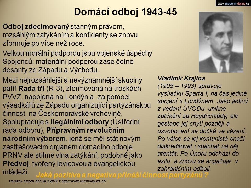 Domácí odboj 1943-45