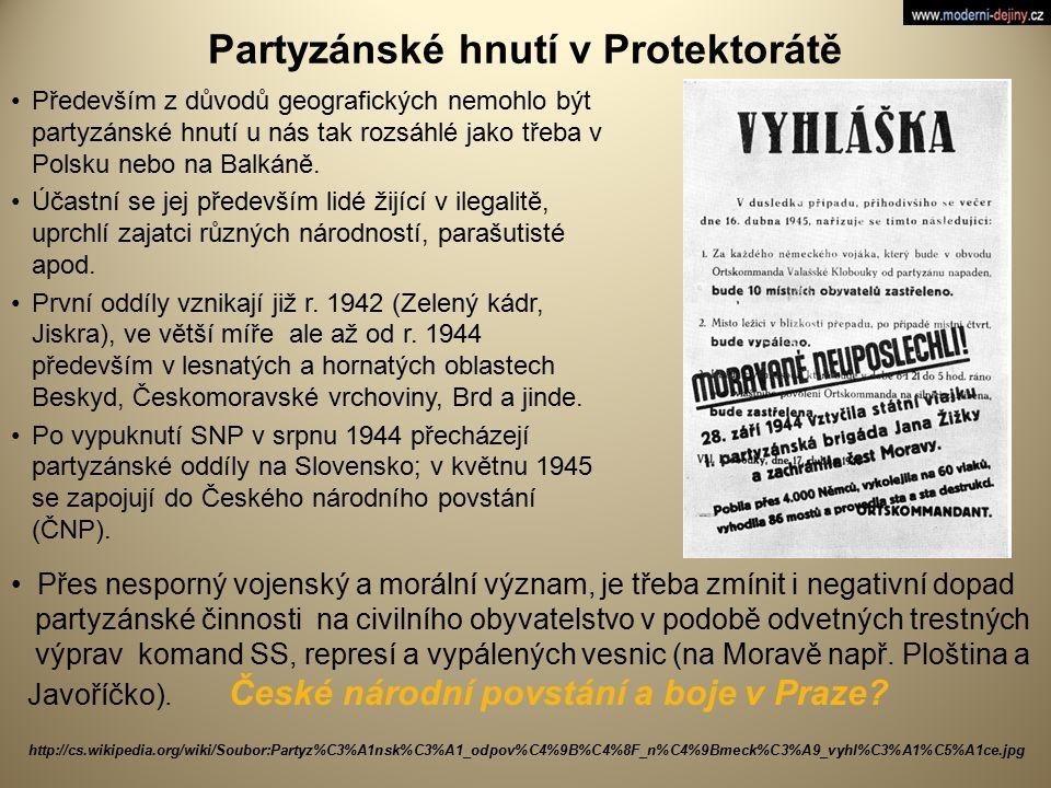 Partyzánské hnutí v Protektorátě