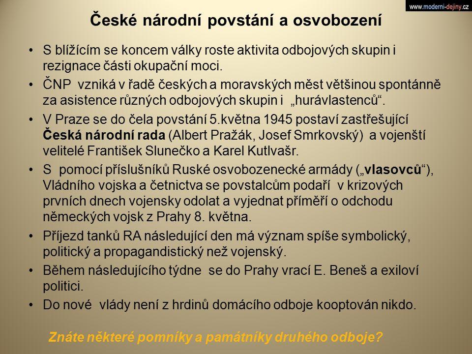 České národní povstání a osvobození