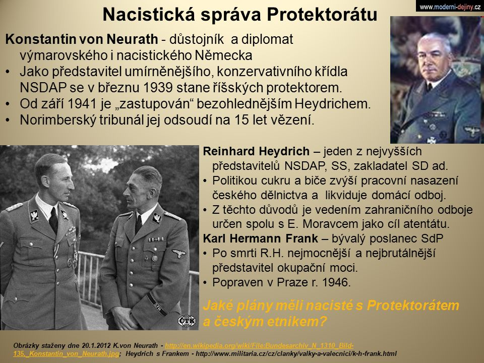 Nacistická správa Protektorátu