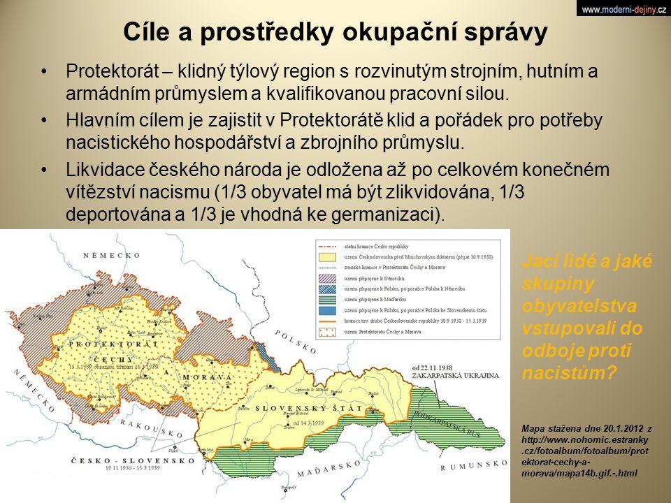 Cíle a prostředky okupační správy