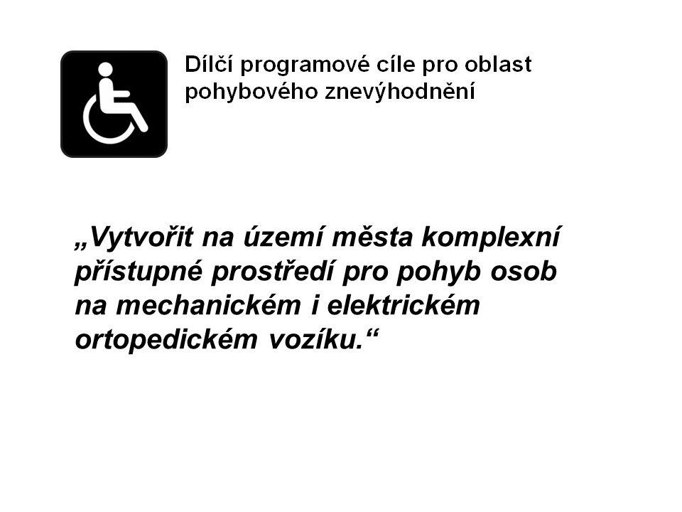 """""""Vytvořit na území města komplexní přístupné prostředí pro pohyb osob na mechanickém i elektrickém ortopedickém vozíku."""