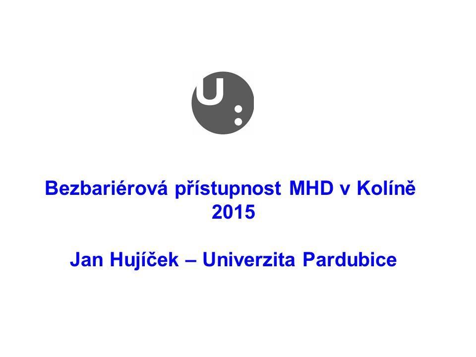 Bezbariérová přístupnost MHD v Kolíně 2015