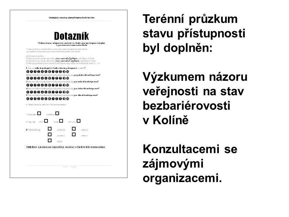 Terénní průzkum stavu přístupnosti byl doplněn: