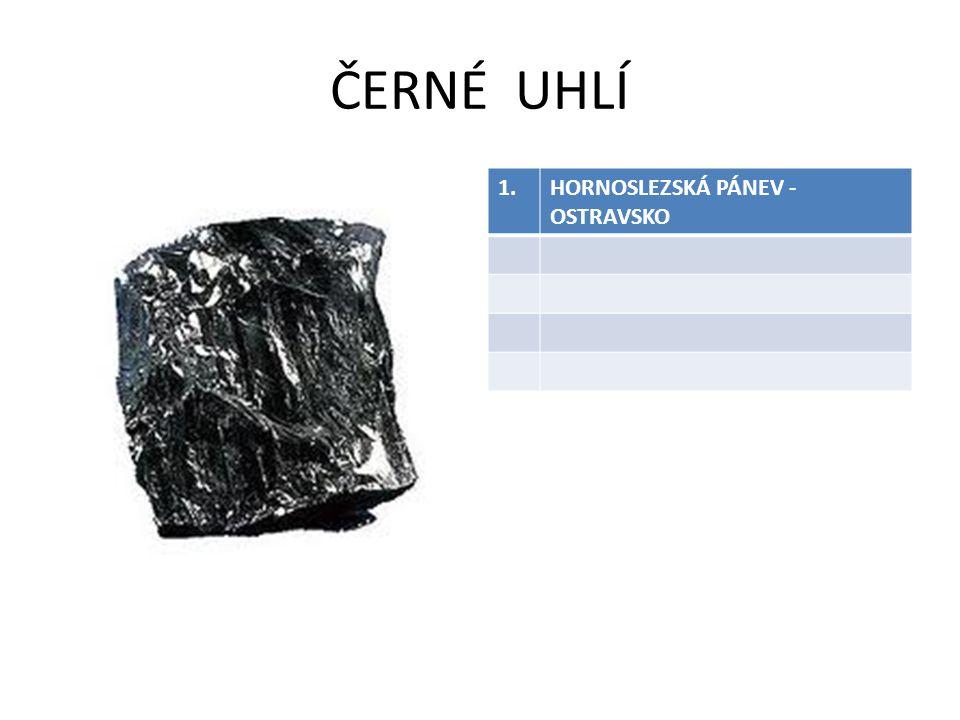 ČERNÉ UHLÍ 1. HORNOSLEZSKÁ PÁNEV - OSTRAVSKO