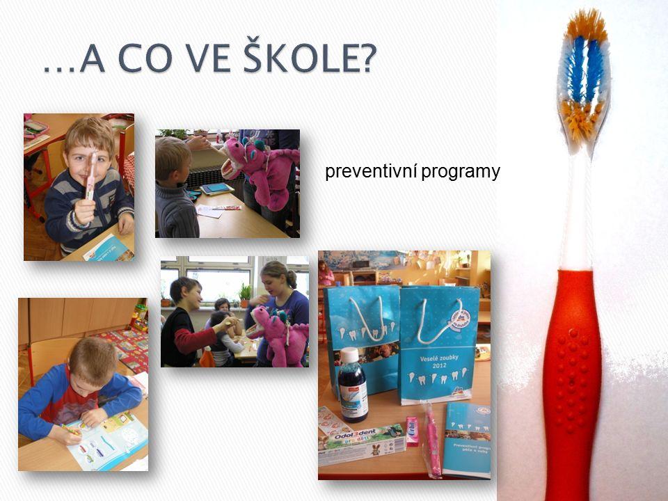 …A CO VE ŠKOLE preventivní programy