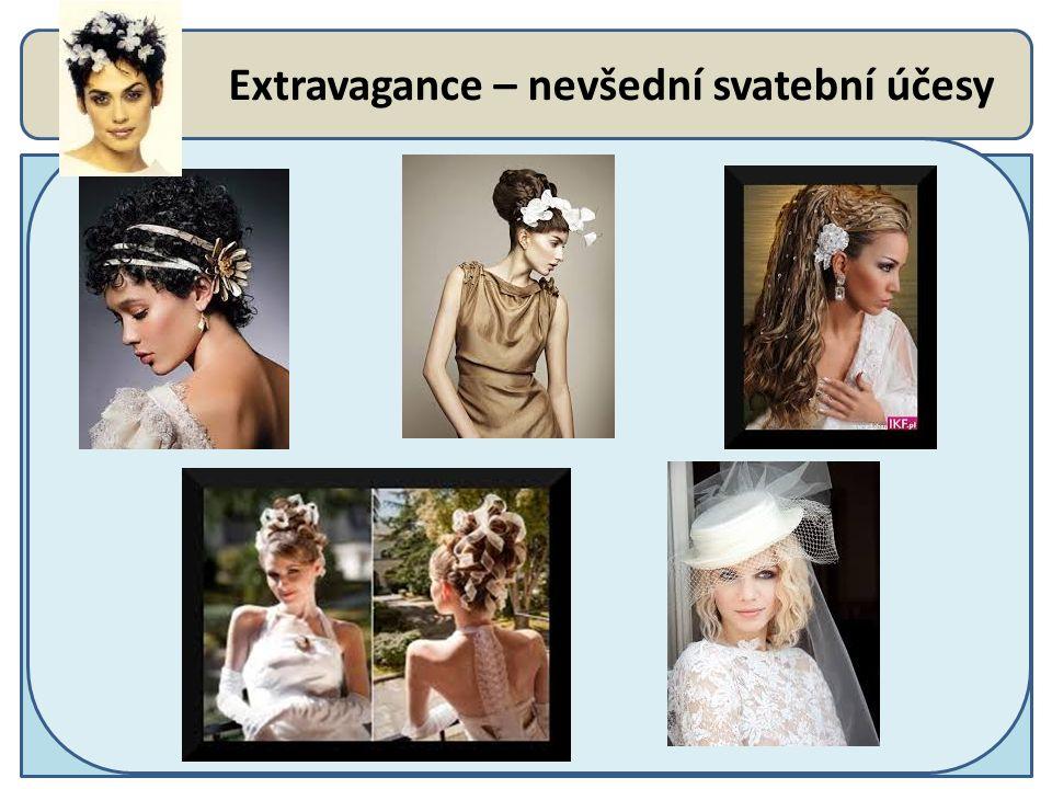 Extravagance – nevšední svatební účesy