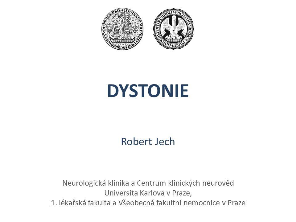 DYSTONIE Robert Jech