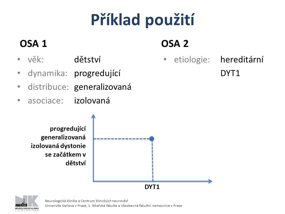 Příklad použití OSA 1 OSA 2 věk: dětství dynamika: progredující