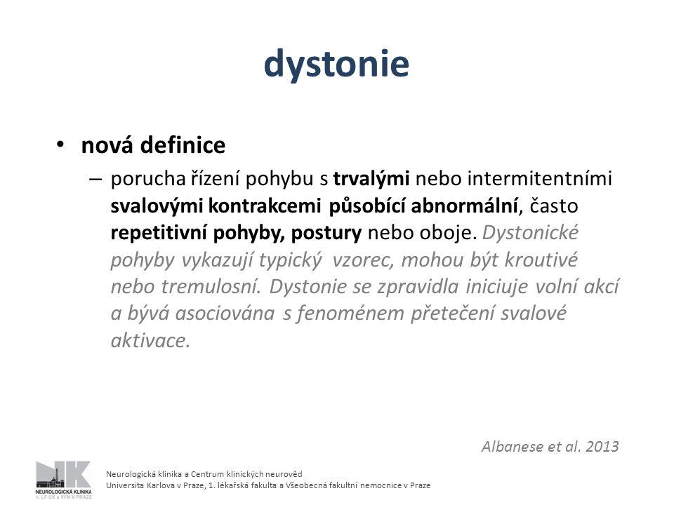 dystonie nová definice