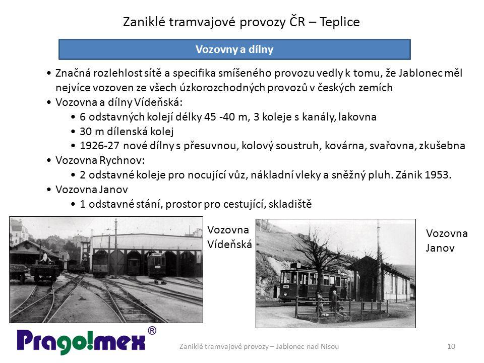 Zaniklé tramvajové provozy ČR – Teplice