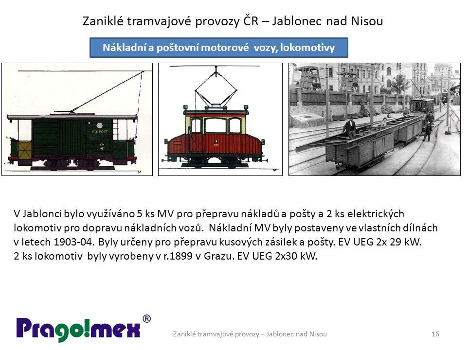 Zaniklé tramvajové provozy ČR – Jablonec nad Nisou