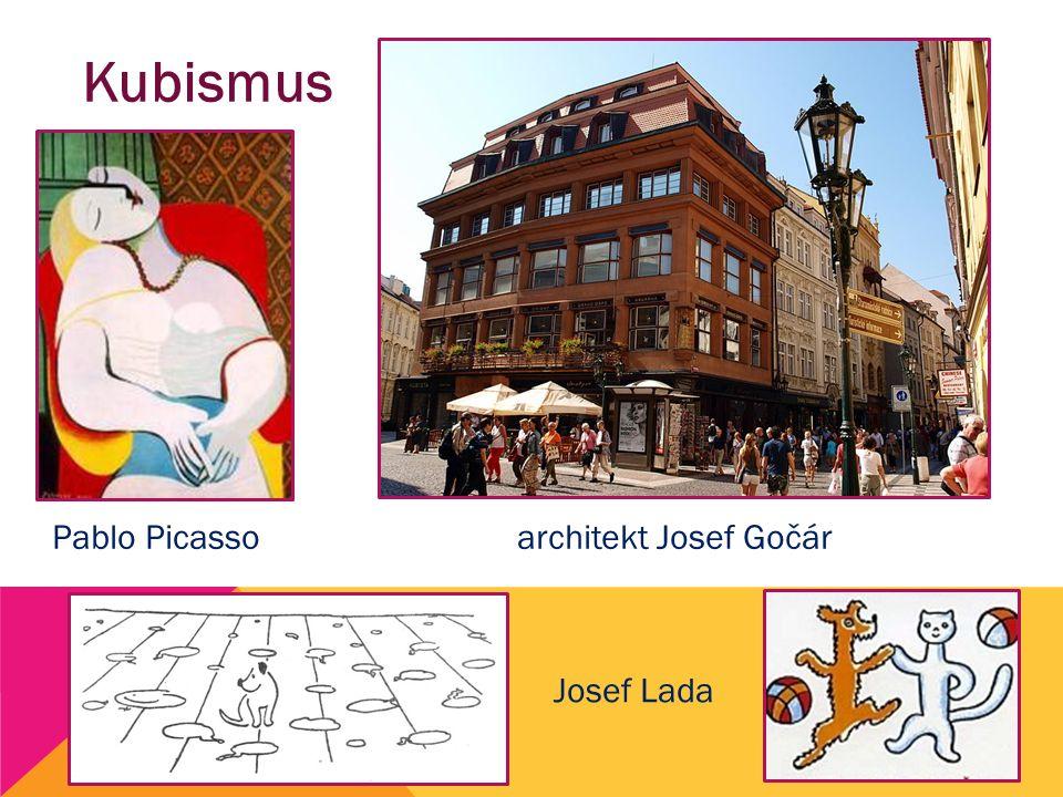 Kubismus Pablo Picasso architekt Josef Gočár Josef Lada