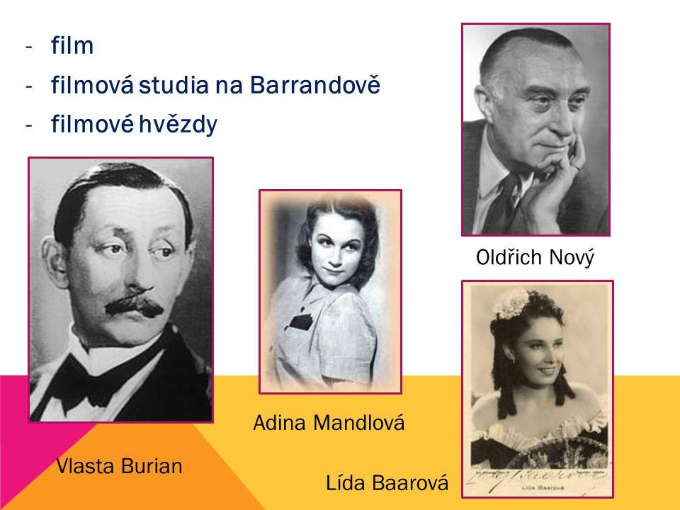 filmová studia na Barrandově filmové hvězdy