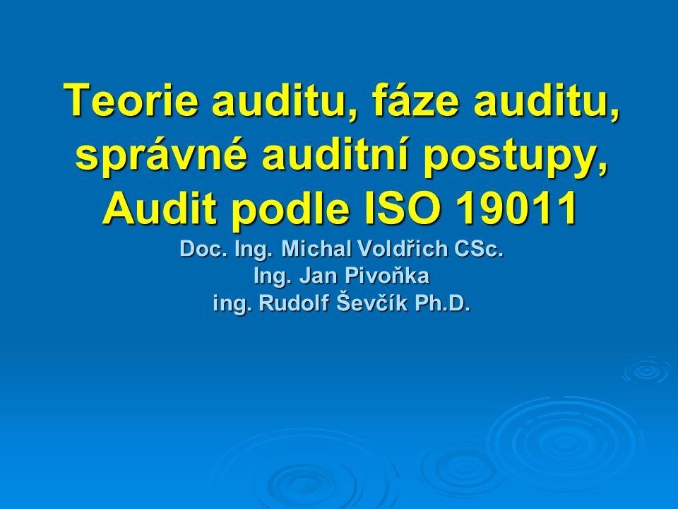 Teorie auditu, fáze auditu, správné auditní postupy, Audit podle ISO 19011 Doc.