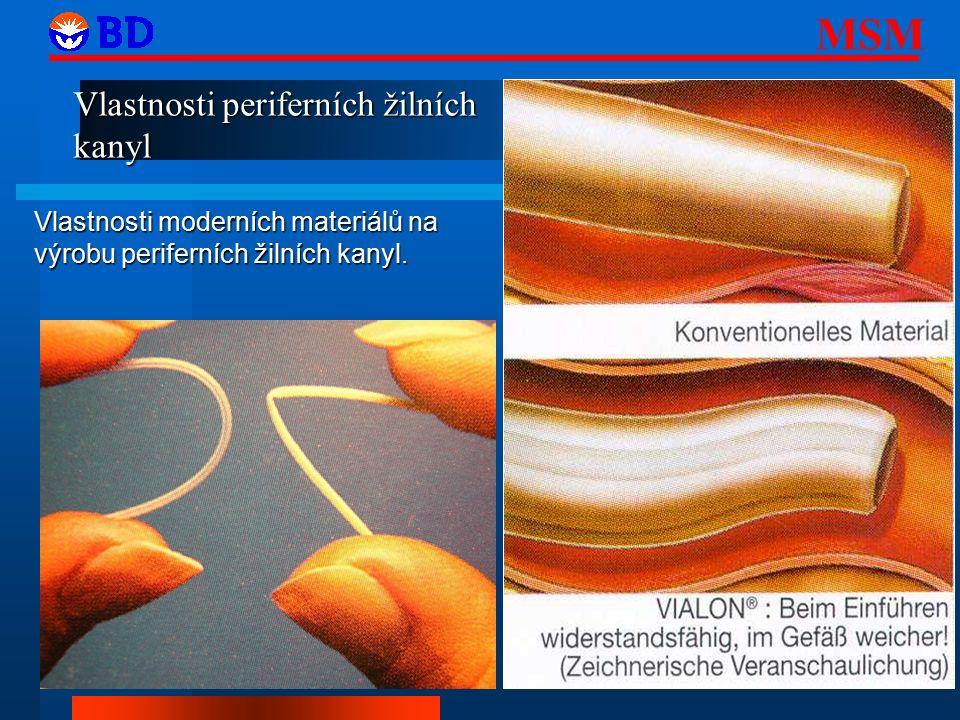 Vlastnosti periferních žilních kanyl