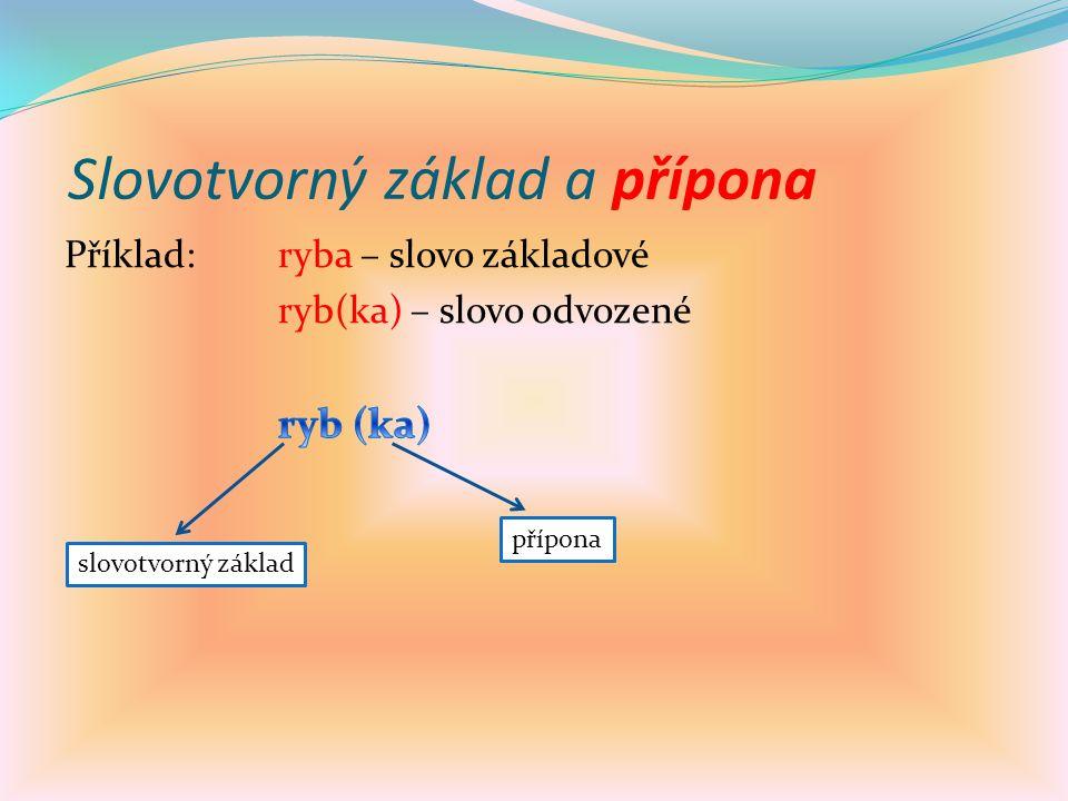 Slovotvorný základ a přípona