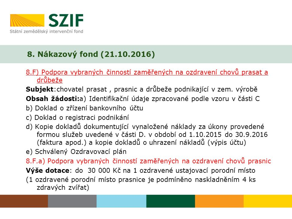 8. Nákazový fond (21.10.2016)