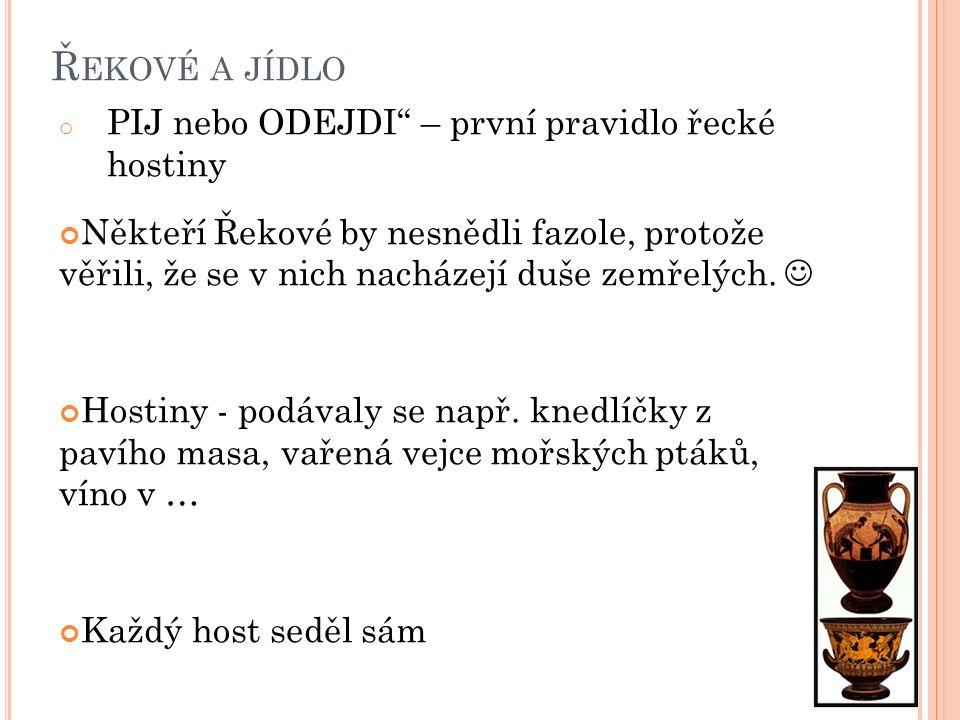 Řekové a jídlo PIJ nebo ODEJDI – první pravidlo řecké hostiny