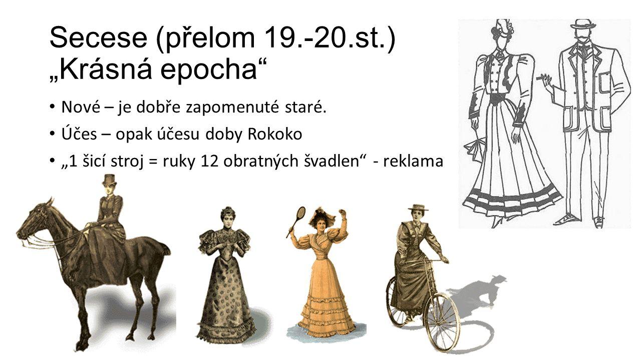 """Secese (přelom 19.-20.st.) """"Krásná epocha"""