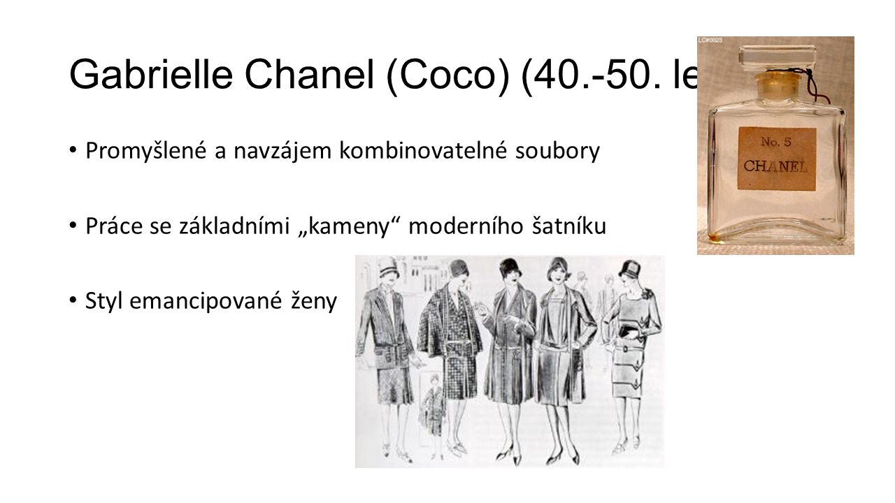 Gabrielle Chanel (Coco) (40.-50. leta)