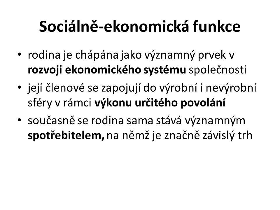 Sociálně-ekonomická funkce