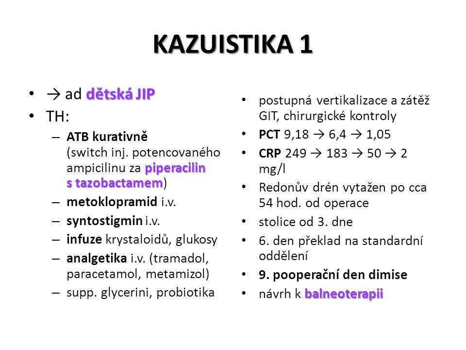 KAZUISTIKA 1 → ad dětská JIP TH:
