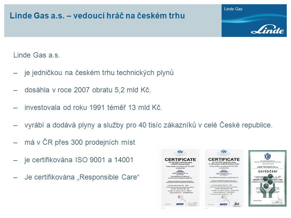 Linde Gas a.s. – vedoucí hráč na českém trhu