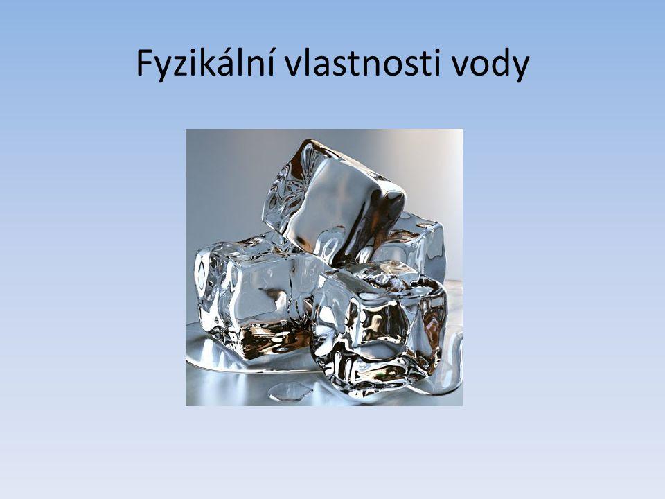 Fyzikální vlastnosti vody