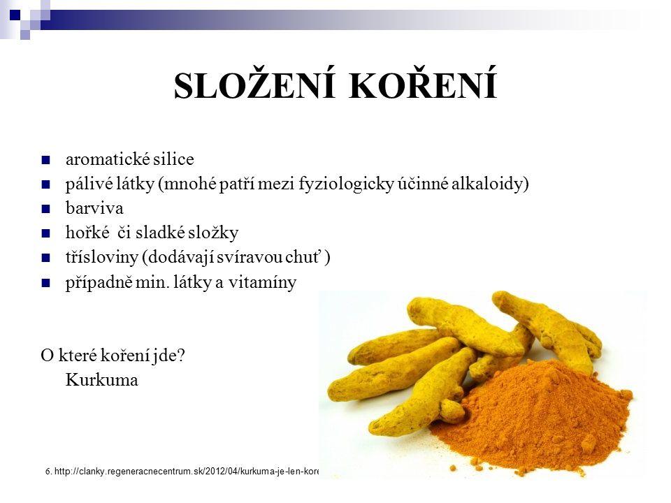 SLOŽENÍ KOŘENÍ aromatické silice