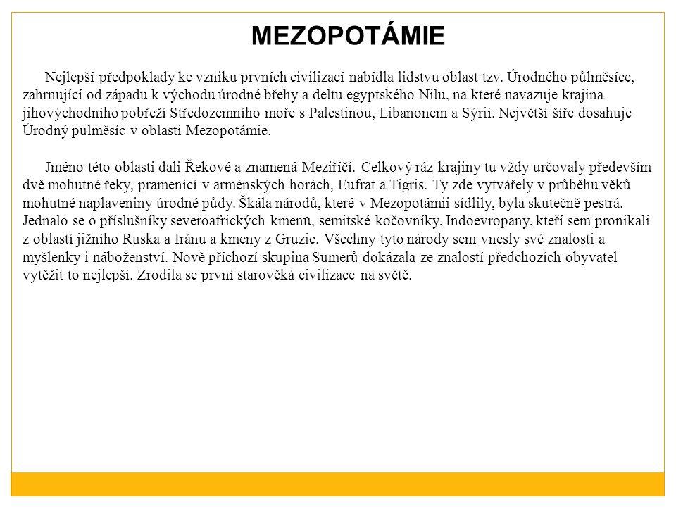 MEZOPOTÁMIE
