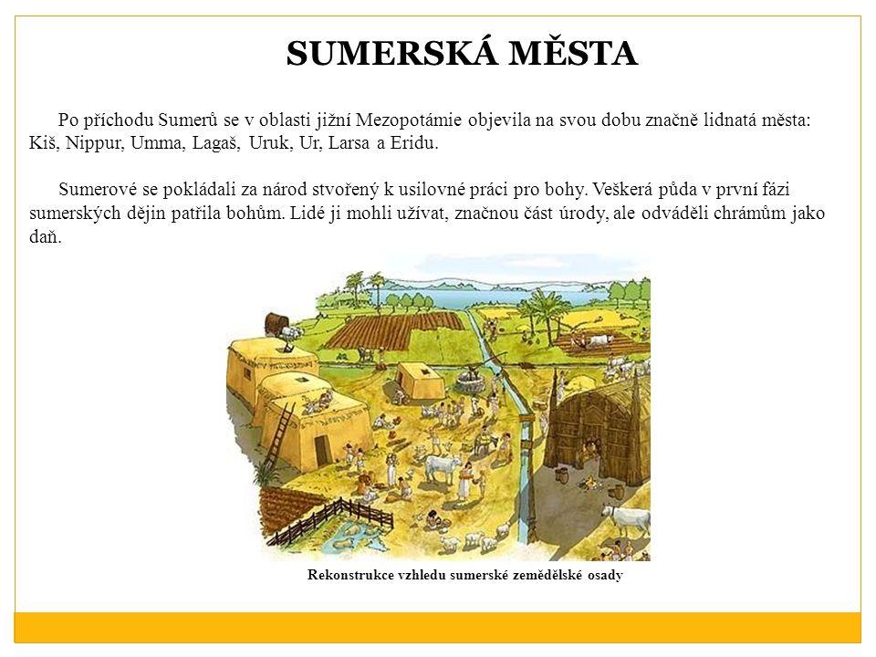 Rekonstrukce vzhledu sumerské zemědělské osady