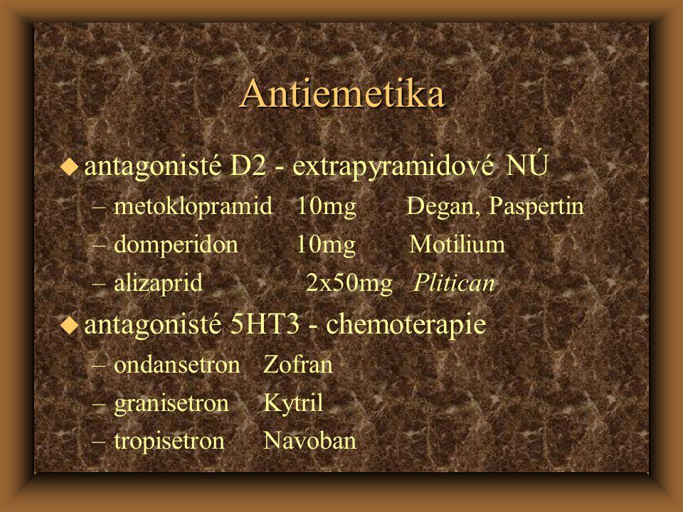 Antiemetika antagonisté D2 - extrapyramidové NÚ