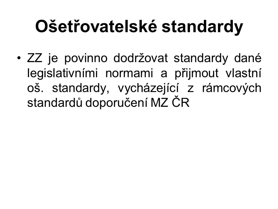 Ošetřovatelské standardy