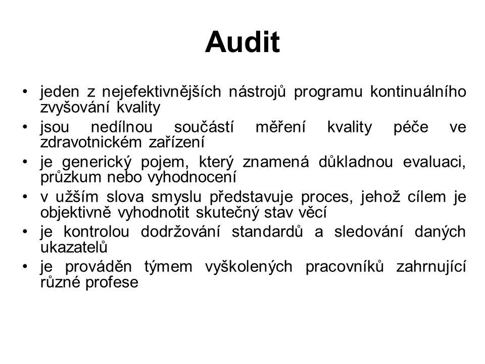 Audit jeden z nejefektivnějších nástrojů programu kontinuálního zvyšování kvality.