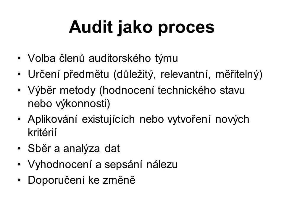 Audit jako proces Volba členů auditorského týmu