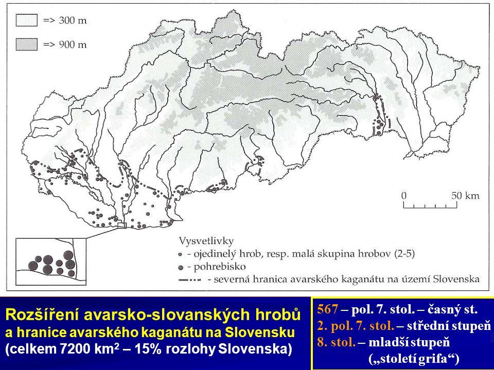 Rozšíření avarsko-slovanských hrobů