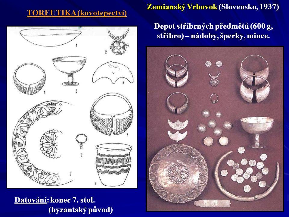 Zemianský Vrbovok (Slovensko, 1937) Depot stříbrných předmětů (600 g,