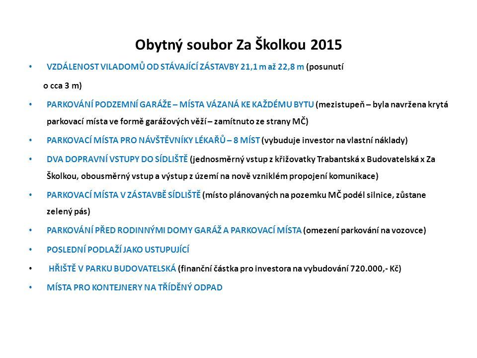 Obytný soubor Za Školkou 2015